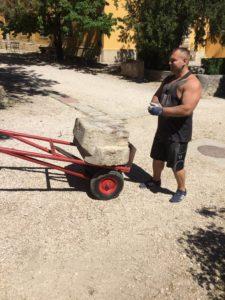 Ókori kövek szállítása